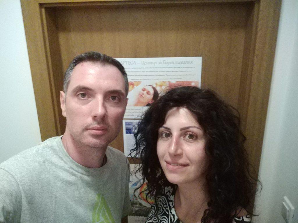 Боуен терапевтът Радослав Георгиев с клиент